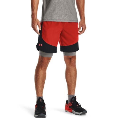 UA HIIT Woven Colorblock Shorts
