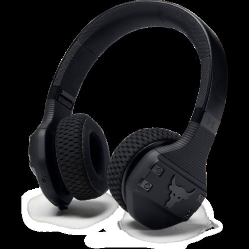 UA Sport Wireless Train Headphones - Project Rock
